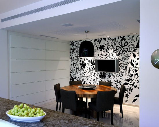 Cream And Black Dining Table Houzz