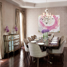 Traditional Dining Room by Merigo Design