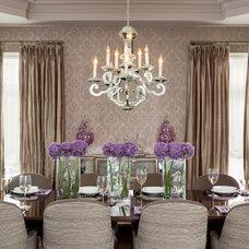Traditional Dining Room by Merigo Design
