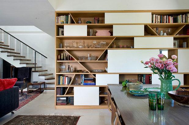 Eclectic Dining Room by Dana Gordon + Roy Gordon: Architecture Studio