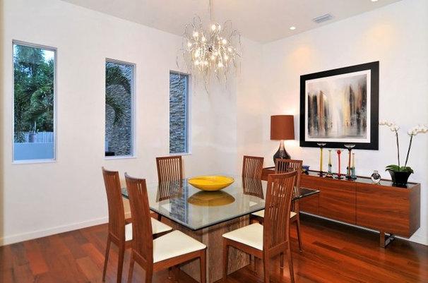 Modern Dining Room House on Bonita Court Sarasota FL