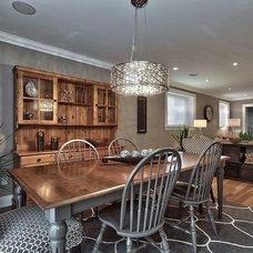 Transitional Dining Room by DW Homes Inc.