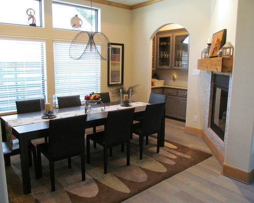 Southwestern dining room design ideas remodels photos for 3 sided dining room table