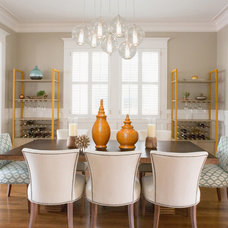 Transitional Dining Room by Kelle Contine Interior Design, LLC