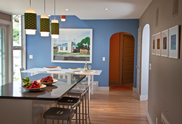 Transitional Dining Room by Burr & McCallum Architects