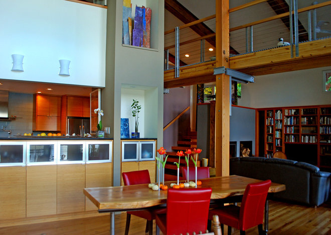 Contemporary Dining Room by Wendy K. Leigh