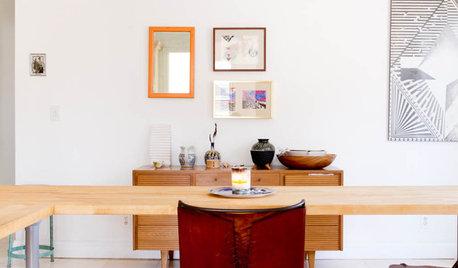 Houzzツアー:一人暮らしの賃貸アパートを、エクレクティック&ミニマルで心地よい家に