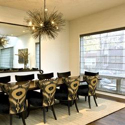 Chicago modern window treatments dining design ideas for Modern dining room window treatments