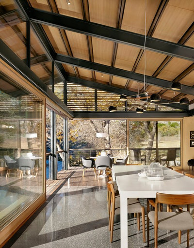 Contemporary Dining Room by Lake Flato Architects