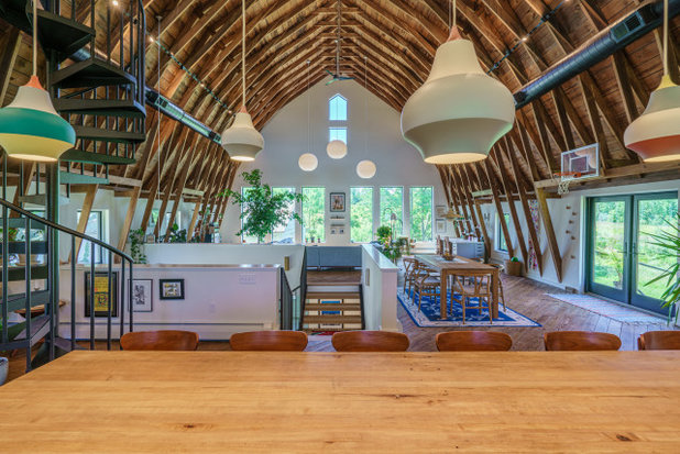 Farmhouse Dining Room by Franklin & Associates - Design/Build