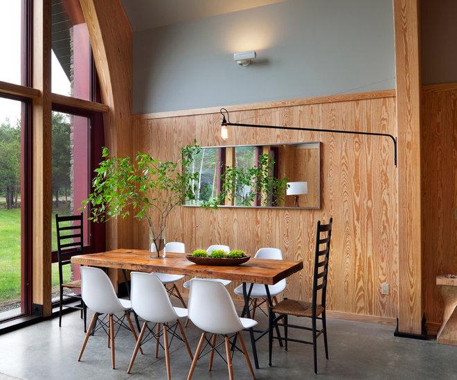 Modern Dining Room by Barlis Wedlick Architects, Hudson River Studio