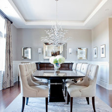Transitional Dining Room by Rebecca Mitchell Interiors & Boutique
