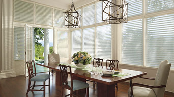 Hunter Douglas Silhouette Shades in Dining Room