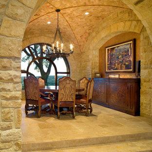 Идея дизайна: столовая в средиземноморском стиле