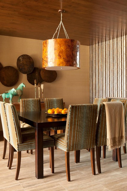 Contemporary Dining Room by Michael Fullen Design Group
