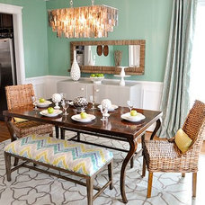 Eclectic Dining Room by evaru design