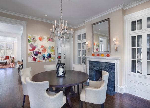 Transitional Dining Room by Tom Stringer Design Partners