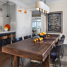 transitional dining room by Tom Stringer Design Partners