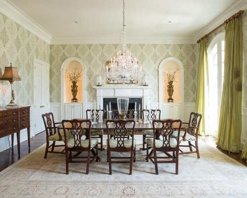 Fireplace decor dining room design ideas renovations for Houzz dining room wall art