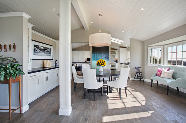 Transitional Dining Room by Anders Lasater Architects