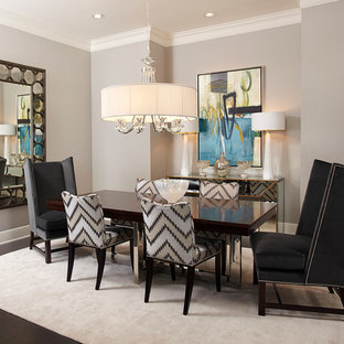 Transitional dining room photo in Dallas