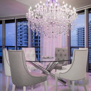 Modernes Esszimmer in Miami