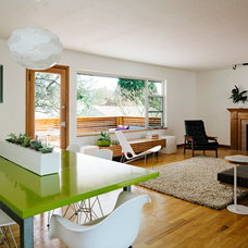 Midcentury Dining Room by Transom Design Build