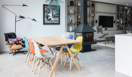 Color Helps Zone an Open-Plan Space