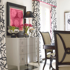 Eclectic Dining Room In Atlanta Homes with Thomasville Furniture