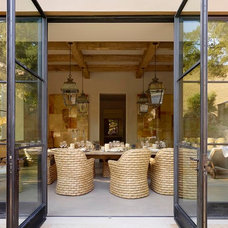 Mediterranean Dining Room by Ken Linsteadt Architects