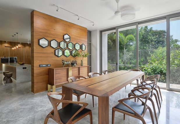 Contemporary Dining Room by S A K Designs