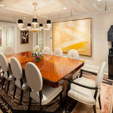 Transitional Dining Room by Electronics Design Group, Inc.