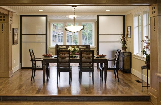 Contemporary Dining Room by Christian Gladu Design