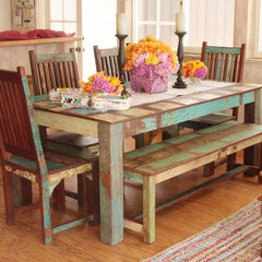 eclectic dining room Indian Reclaimed Wood Dining Set