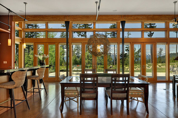 Modern Dining Room by Mohler + Ghillino Architects