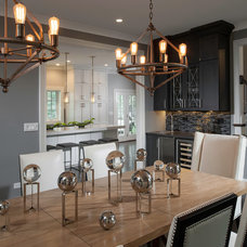 Transitional Dining Room by Savvy Interior Design