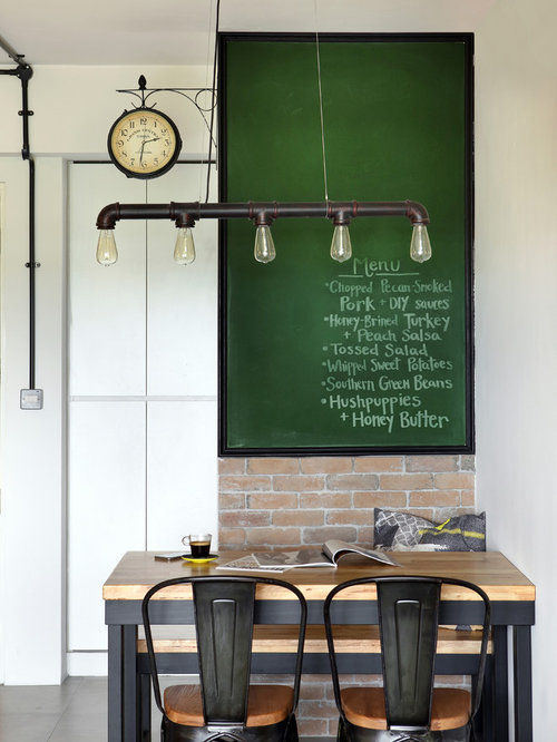 kleine industrial esszimmer ideen design bilder houzz. Black Bedroom Furniture Sets. Home Design Ideas