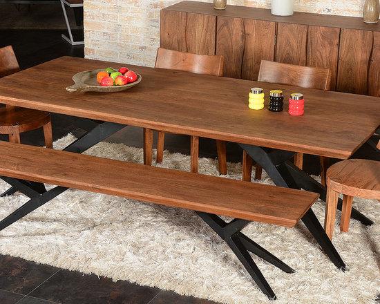 Industrial Dining Room Design Ideas Remodels  Photos - Industrial dining room table