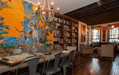 My Houzz: Color and Texture Fill an Eclectic Pittsburgh Row House