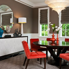 Contemporary Dining Room by Maeve Carr Design