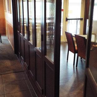 Interior room divider - stacking doors