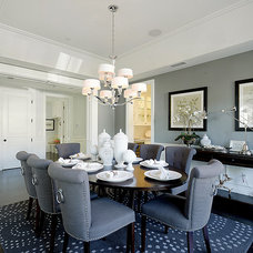 Transitional Dining Room by DTM INTERIORS