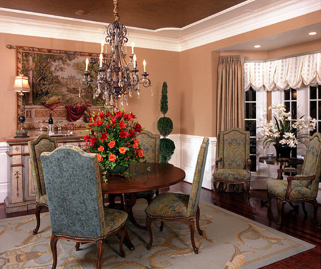 Traditional Dining Room by Interiors By Mimi, Inc.