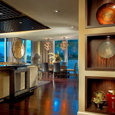 Asian Dining Room by Interiors by Steven G