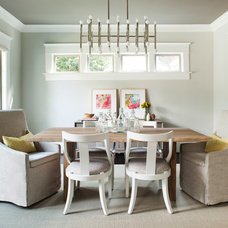 Transitional Dining Room by Jeff Herr Photography