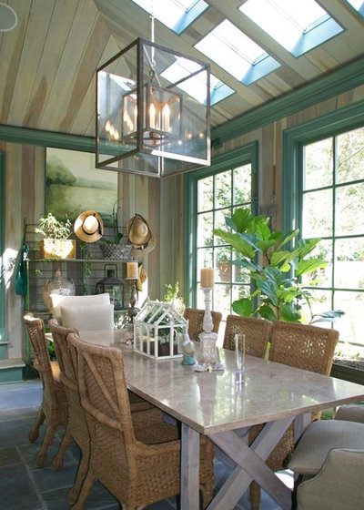 Farmhouse Dining Room by McClure Architecture