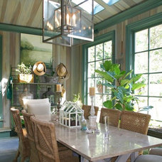 Farmhouse Dining Room by Menzer McClure Architects