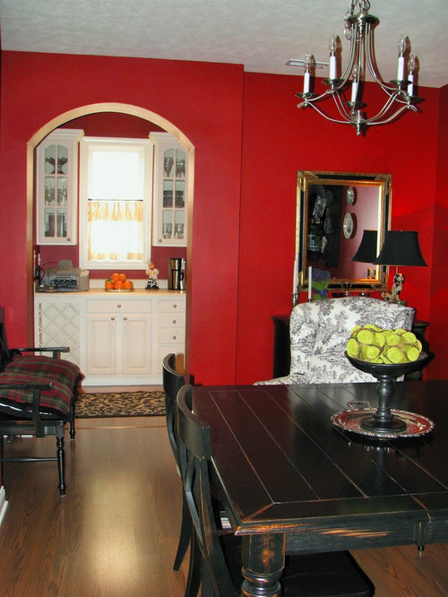 Indianapolis dining room design ideas renovations for Dining room ideas with red walls