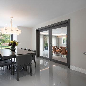 Internal Double Glass grey Oak Doors   Deuren