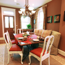 Eclectic Dining Room by JB Interiors, Inc.